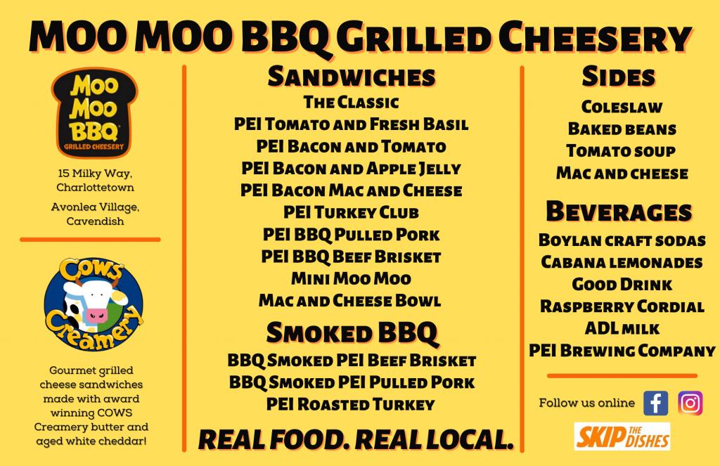 MOO MOO BBQ Grilled Cheesery Menu